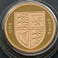 2009 Gold Proof £1 Coin Shield Of The Royal Arms